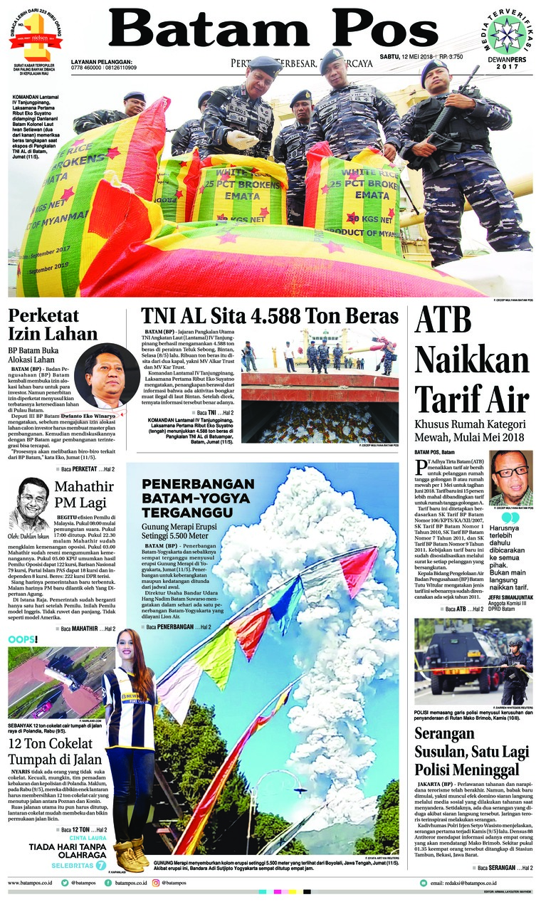 Batam Pos Digital Newspaper 12 May 2018
