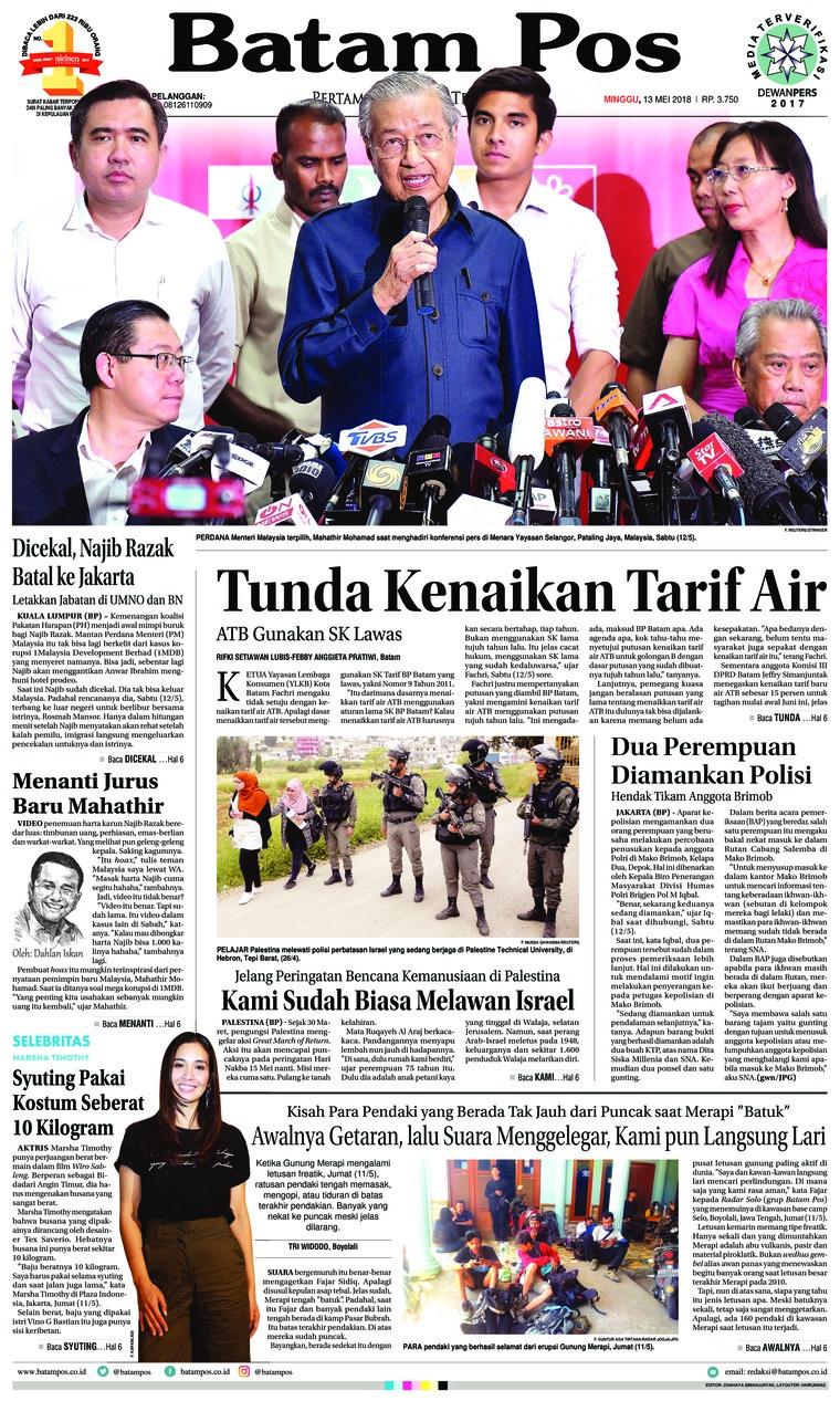 Koran Digital Batam Pos 13 Mei 2018