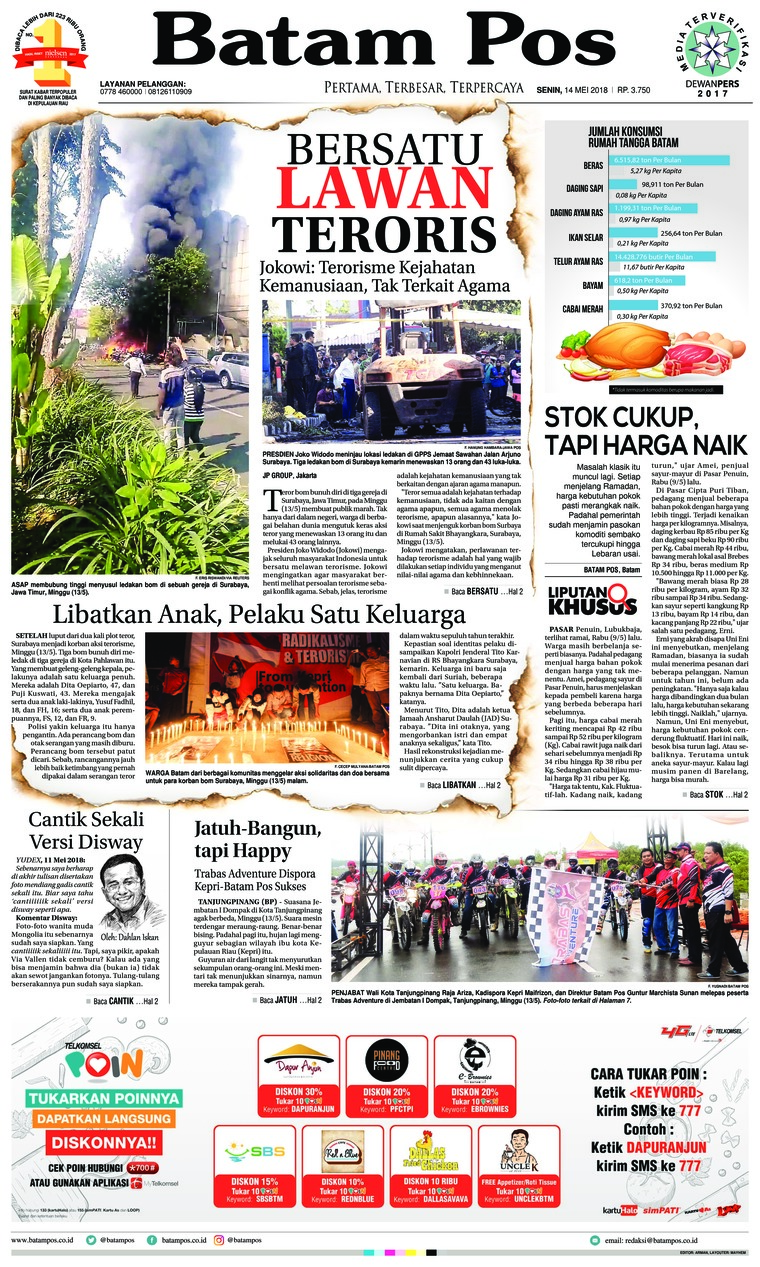Koran Digital Batam Pos 14 Mei 2018