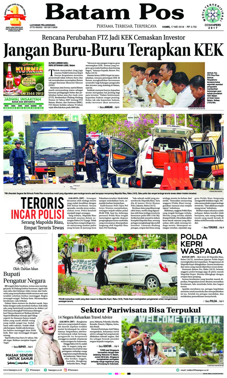 Koran Digital Batam Pos 17 Mei 2018