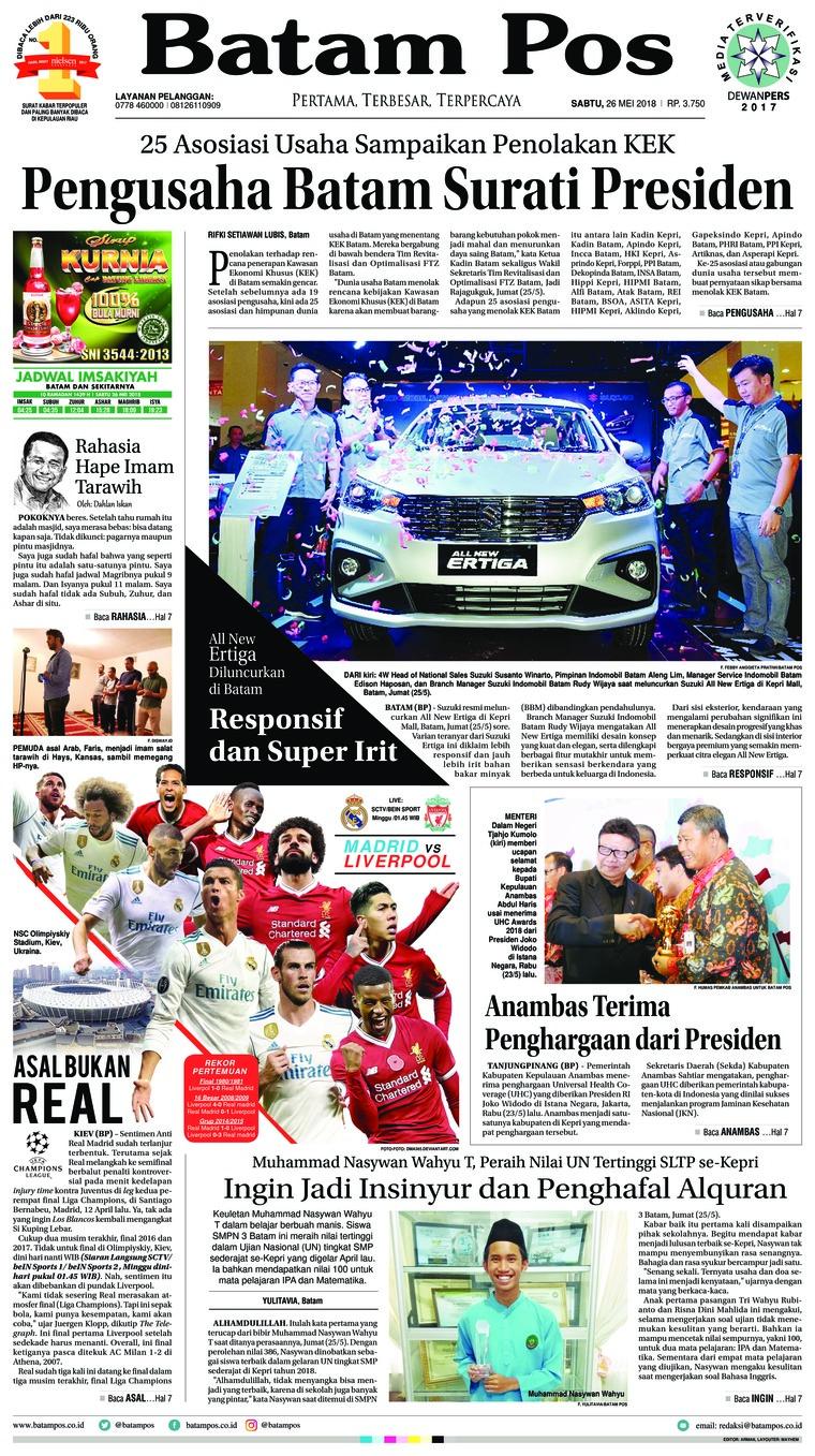 Koran Digital Batam Pos 27 Mei 2018