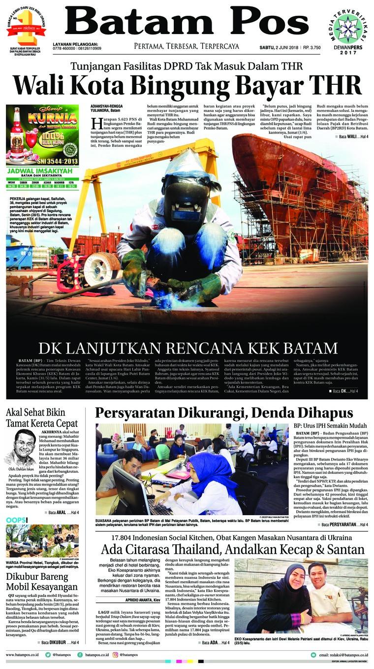 Koran Digital Batam Pos 02 Juni 2018