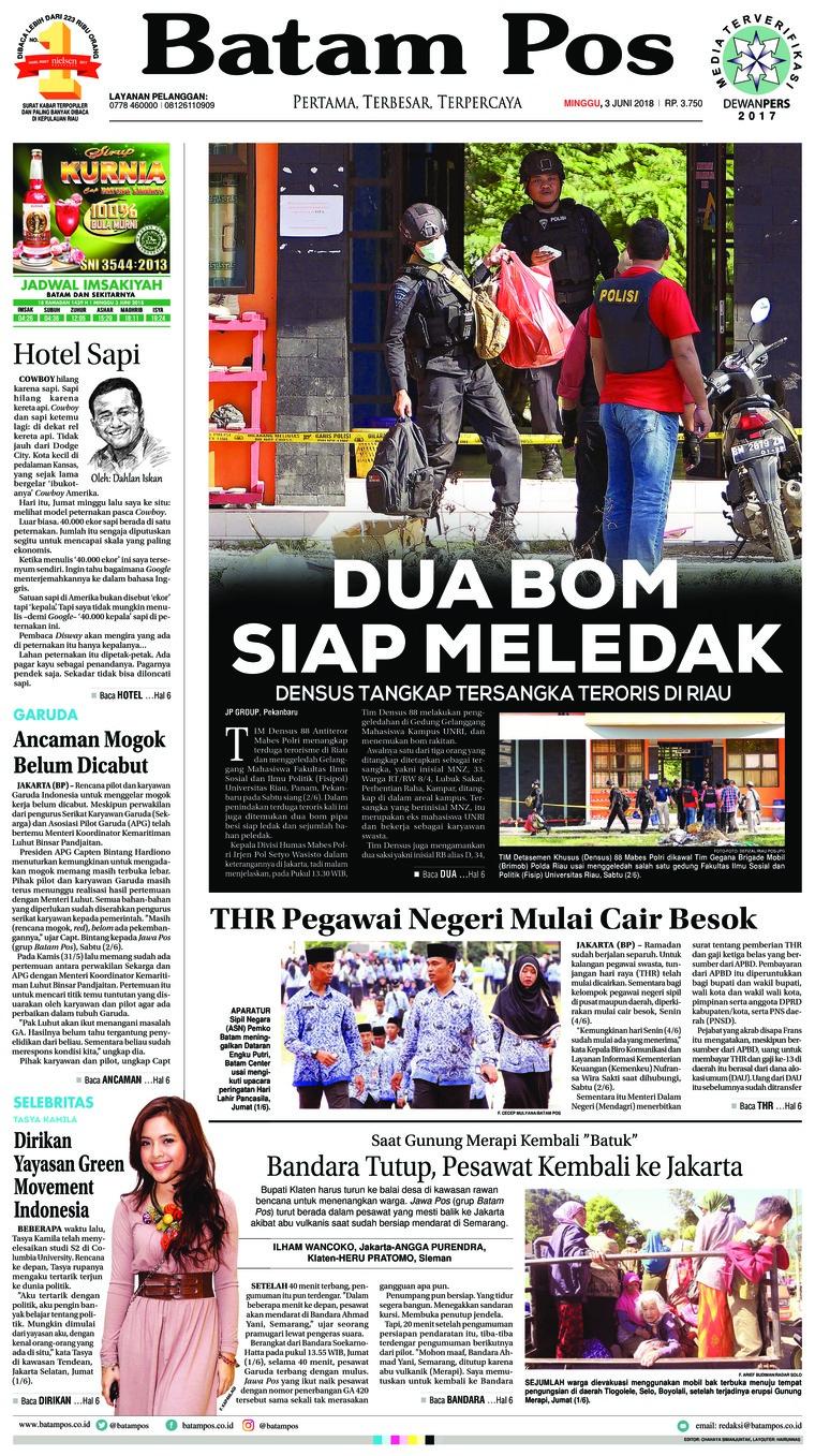 Koran Digital Batam Pos 03 Juni 2018