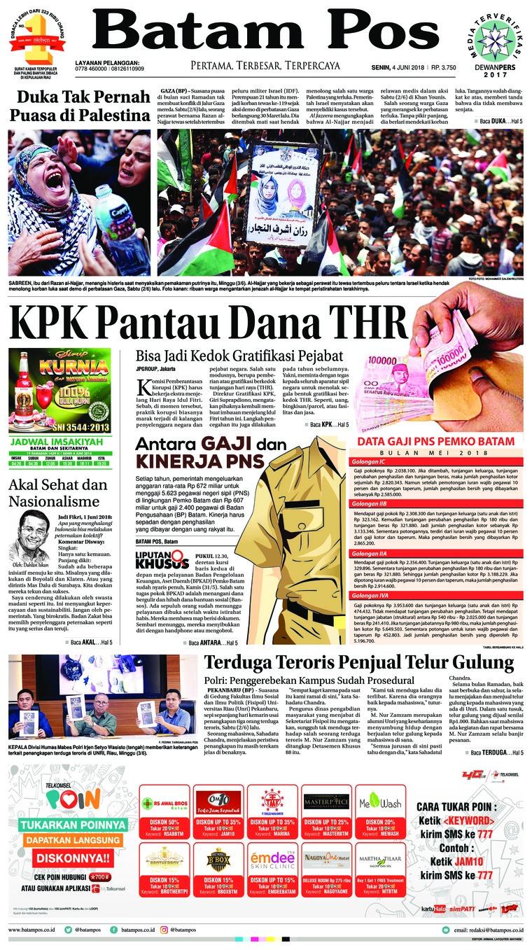 Koran Digital Batam Pos 04 Juni 2018