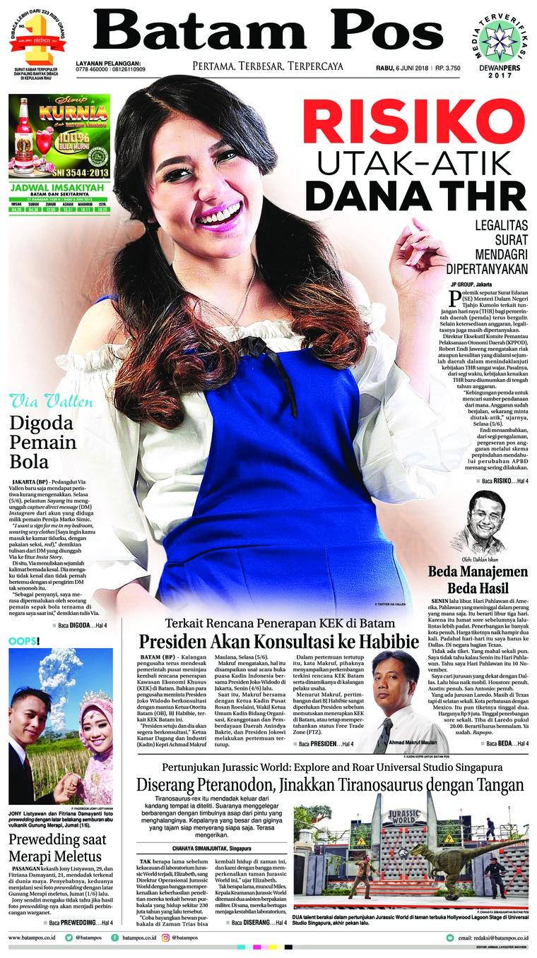 Koran Digital Batam Pos 06 Juni 2018