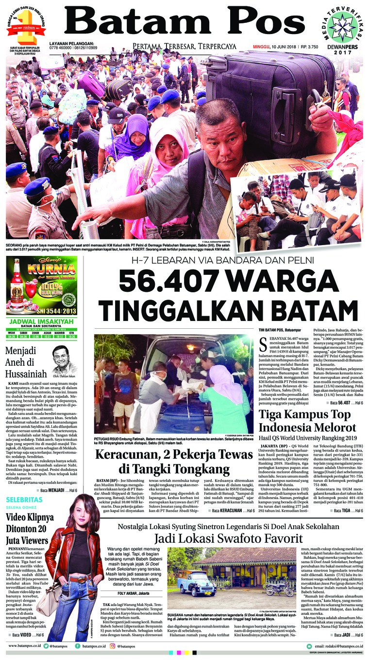 Koran Digital Batam Pos 10 Juni 2018