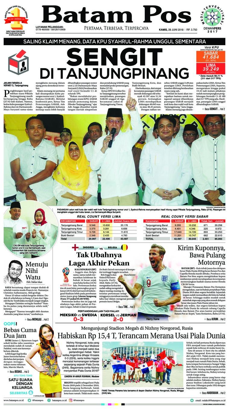 Koran Digital Batam Pos 28 Juni 2018