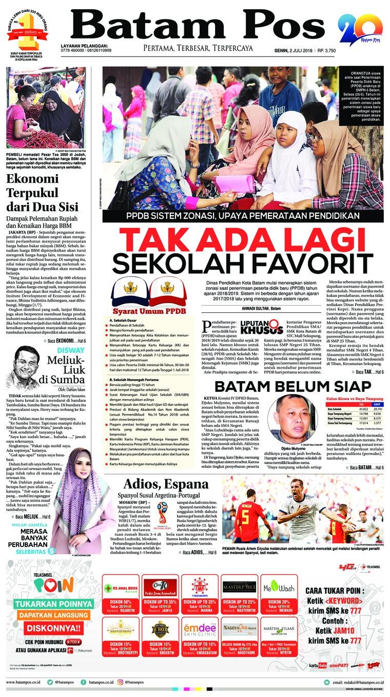 Koran Digital Batam Pos 02 Juli 2018