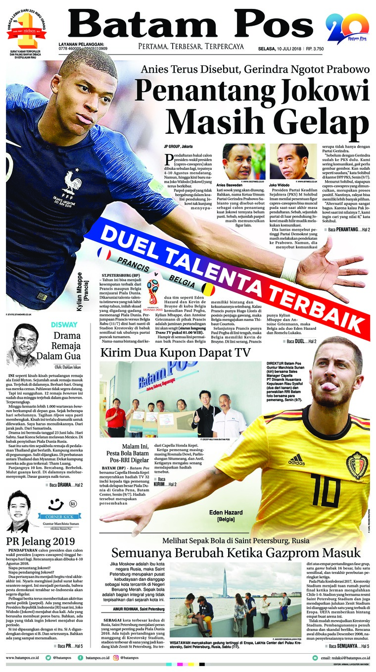 Batam Pos Digital Newspaper 10 July 2018