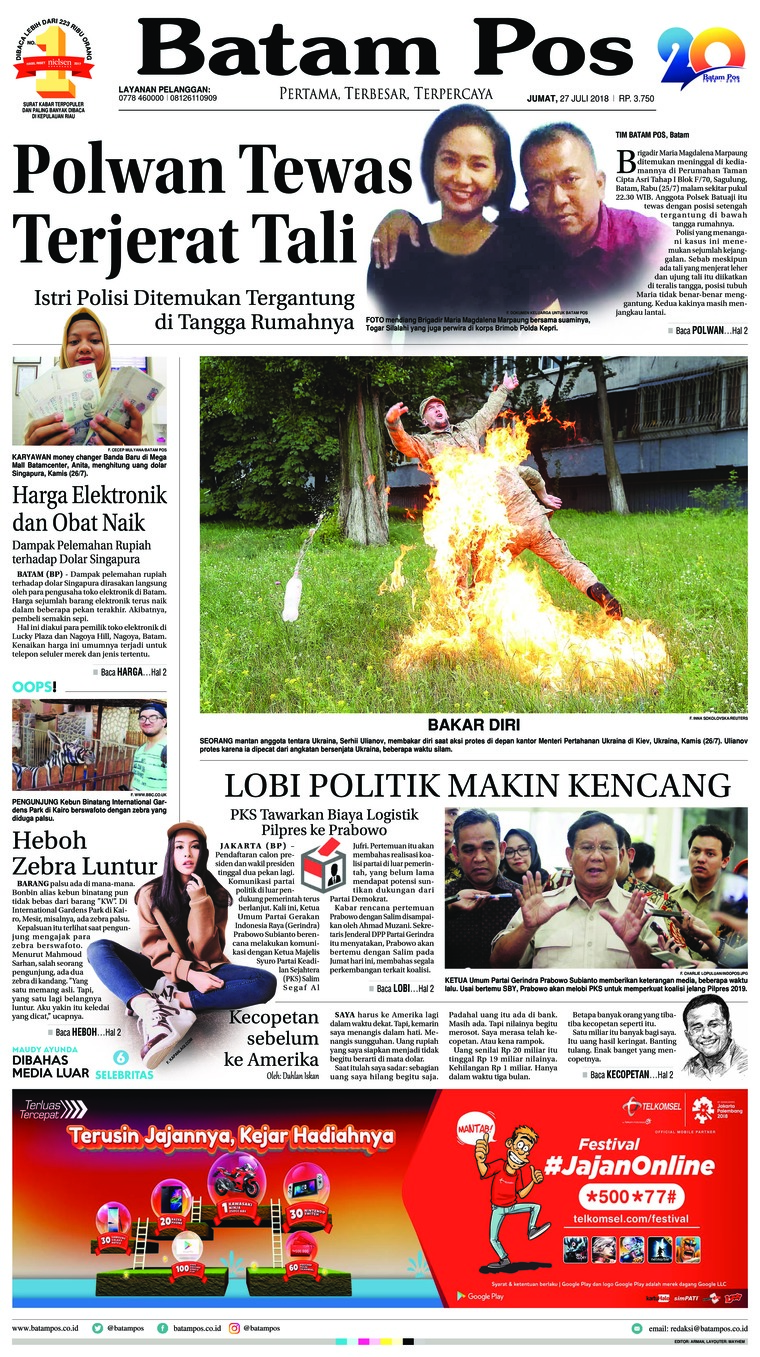 Batam Pos Digital Newspaper 27 July 2018