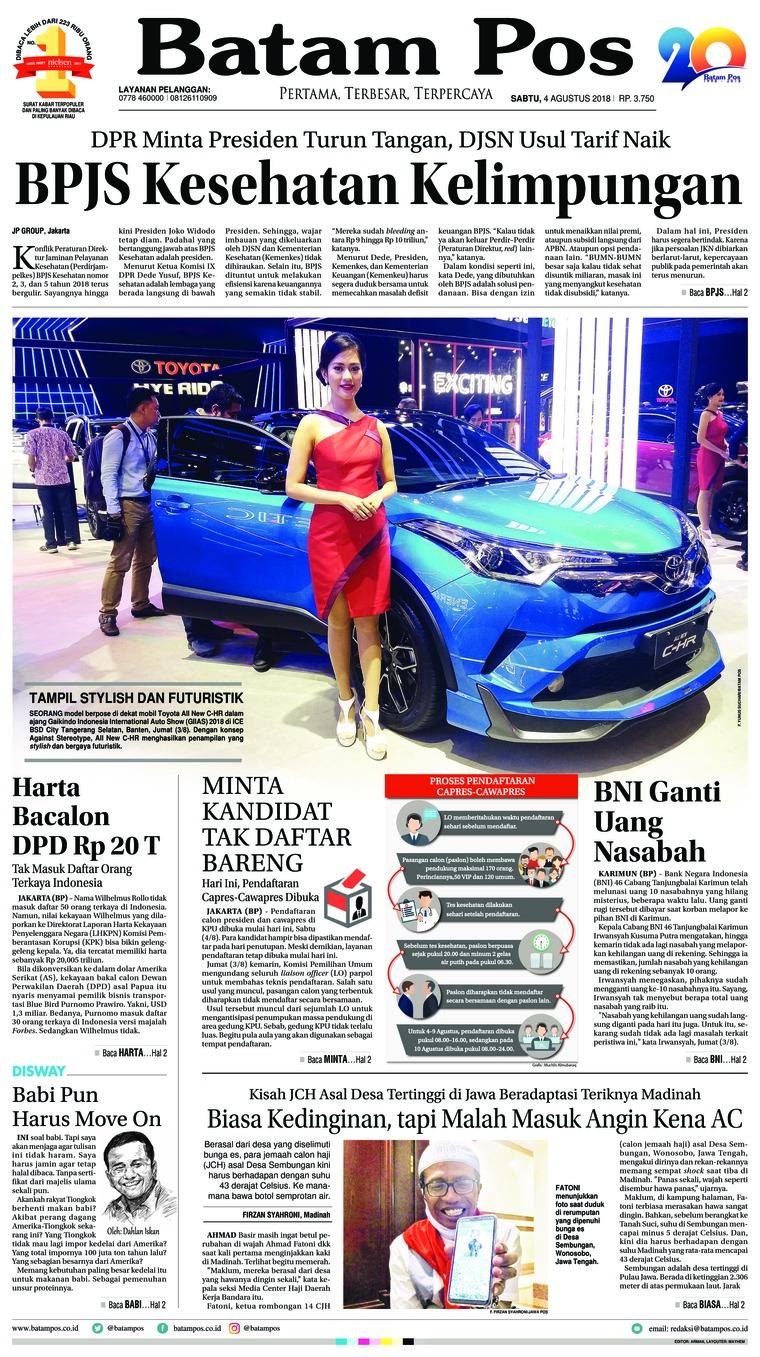 Koran Digital Batam Pos 04 Agustus 2018