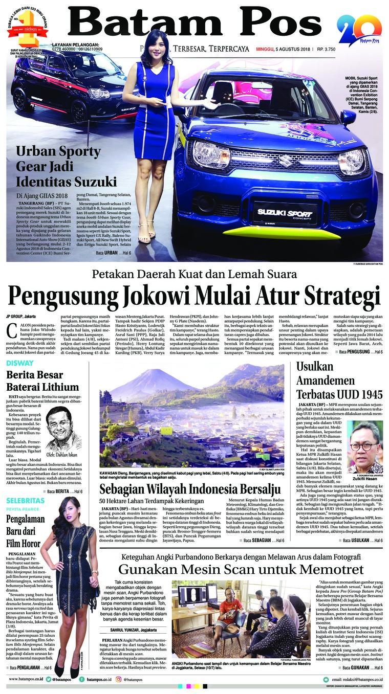 Koran Digital Batam Pos 05 Agustus 2018