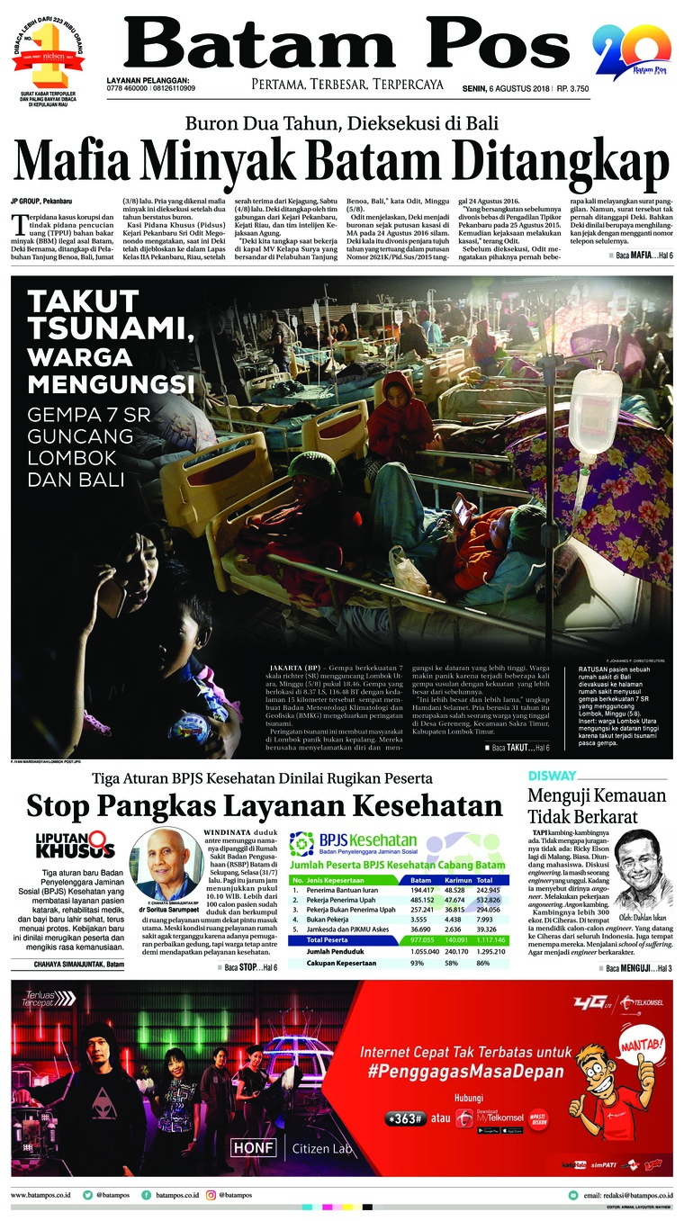 Koran Digital Batam Pos 06 Agustus 2018
