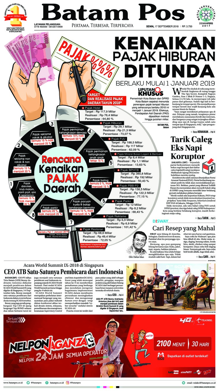 Koran Digital Batam Pos 17 September 2018