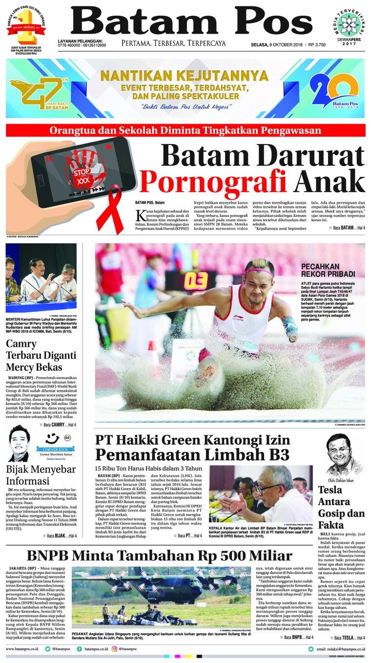 Koran Digital Batam Pos 09 Oktober 2018