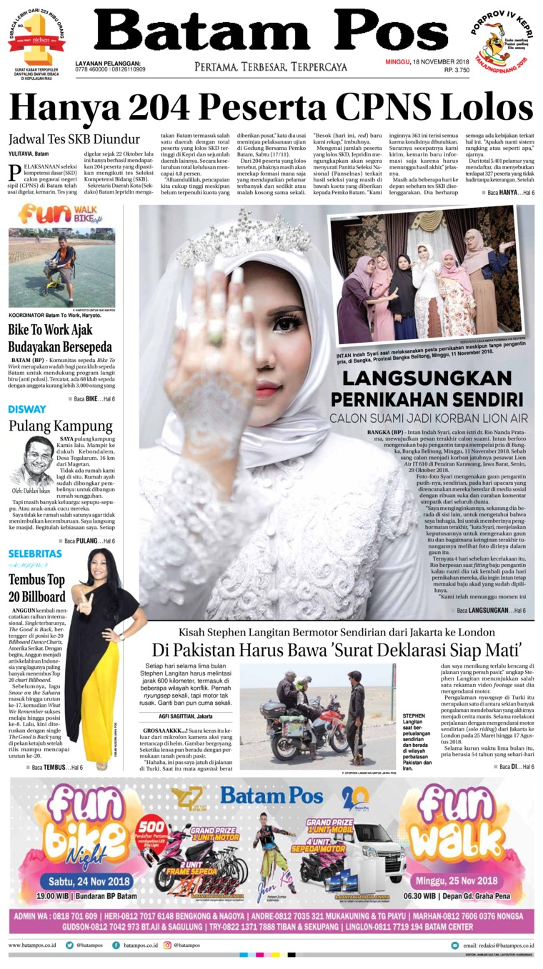 Koran Digital Batam Pos 18 November 2018