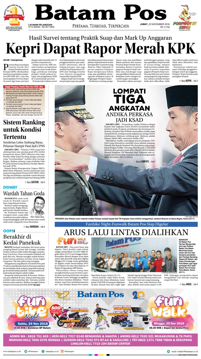 Koran Digital Batam Pos 23 November 2018