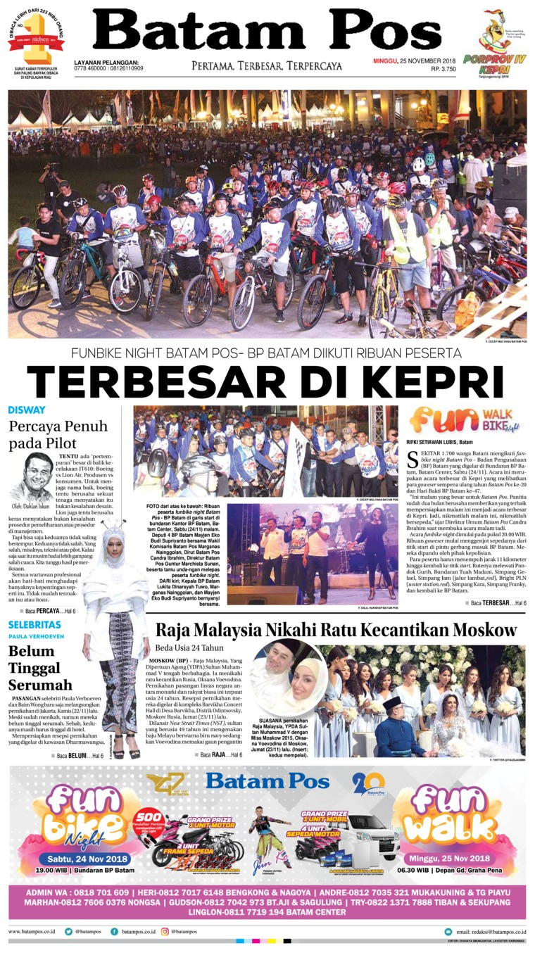Koran Digital Batam Pos 25 November 2018