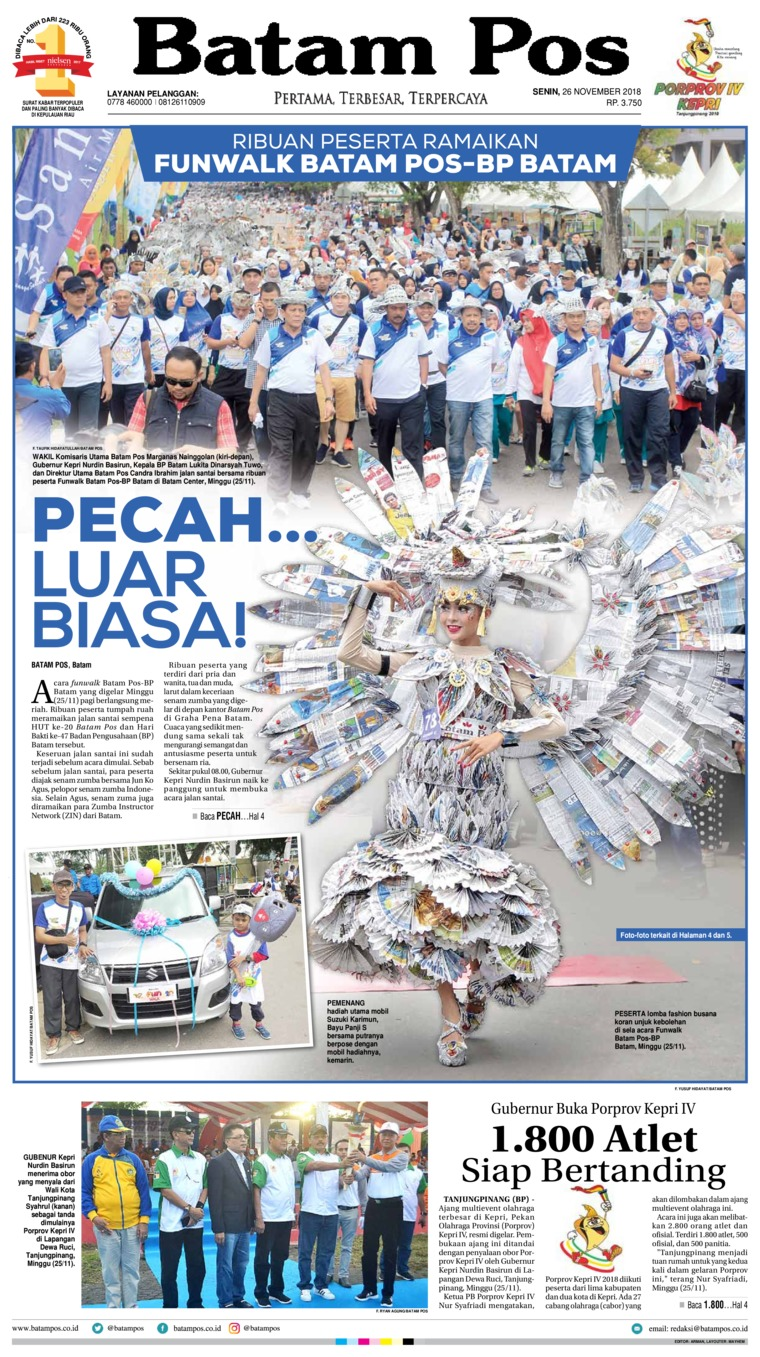 Batam Pos Digital Newspaper 26 November 2018