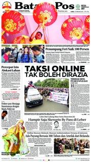 Cover Batam Pos 15 Februari 2018