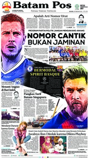 Batam Pos Cover 20 February 2018
