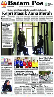 Batam Pos Cover 22 February 2018