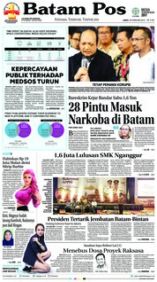 Batam Pos Cover 23 February 2018