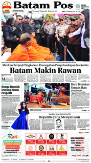 Batam Pos Cover 24 February 2018