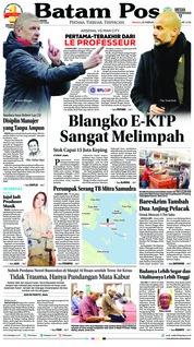 Batam Pos Cover 25 February 2018