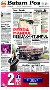 Cover Batam Pos 26 Februari 2018