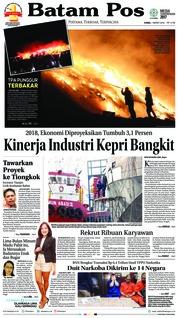 Cover Batam Pos 01 Maret 2018