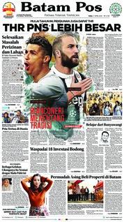 Cover Batam Pos 11 April 2018