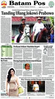 Cover Batam Pos 12 April 2018