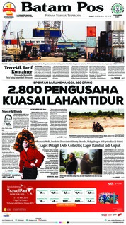 Cover Batam Pos 13 April 2018