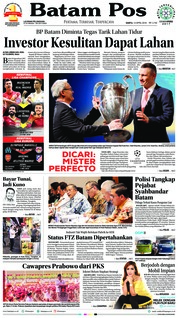 Cover Batam Pos 14 April 2018