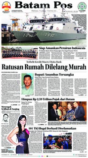 Cover Batam Pos 20 April 2018