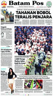 Cover Batam Pos 22 April 2018
