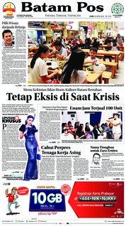 Cover Batam Pos 23 April 2018