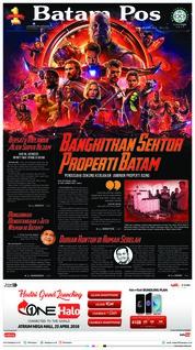 Cover Batam Pos 25 April 2018
