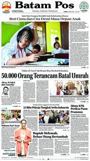 Cover Batam Pos 26 April 2018