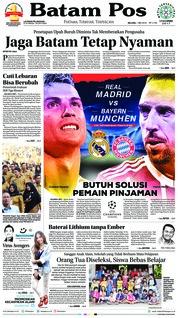 Cover Batam Pos 01 Mei 2018
