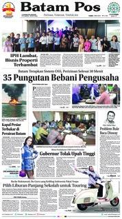 Cover Batam Pos 03 Mei 2018
