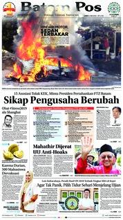 Cover Batam Pos 04 Mei 2018