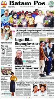 Cover Batam Pos 05 Mei 2018