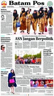 Cover Batam Pos 06 Mei 2018