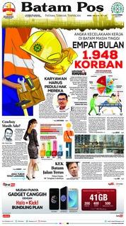 Cover Batam Pos 07 Mei 2018