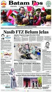 Cover Batam Pos 08 Mei 2018