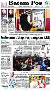 Cover Batam Pos 09 Mei 2018