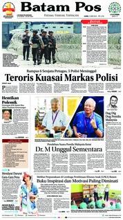 Cover Batam Pos 10 Mei 2018