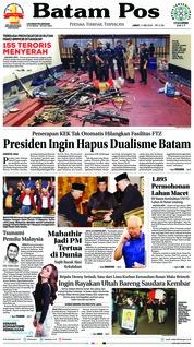 Cover Batam Pos 11 Mei 2018